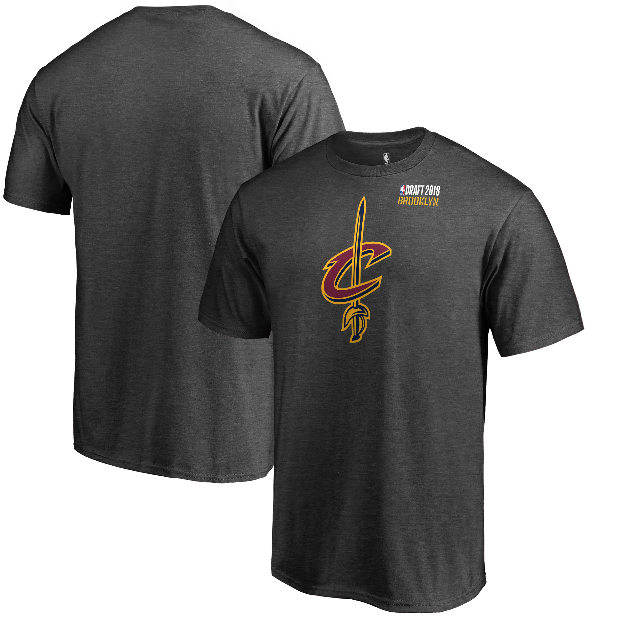 Cleveland Cavaliers Fanatics Branded 2018 NBA Draft BKLYN T-Shirt - Heather Gray