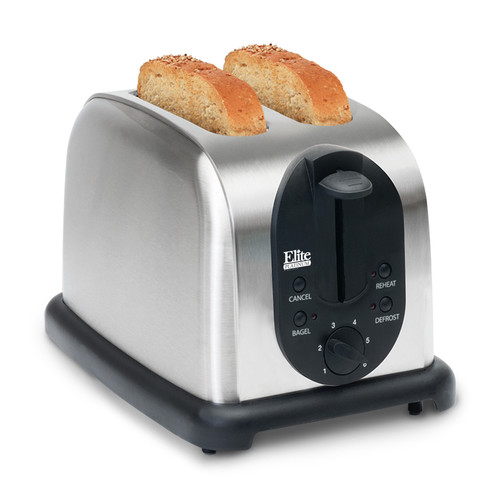 Elite Platinum 2-Slice Toaster, Stainless Steel