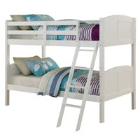 Angel Line Creston Twin Over Twin Wood Convertible Bunk Bed, Multiple Colors