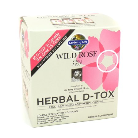 Wild Rose Herbal D-Tox by Garden of life -1-kit