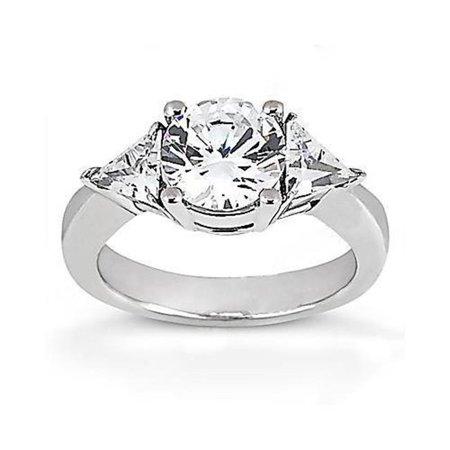 Harry Chad Enterprises 11326 2.25 CT Diamonds Three Stone Wedding Ring - White (2.25 Ct 3 Stone)