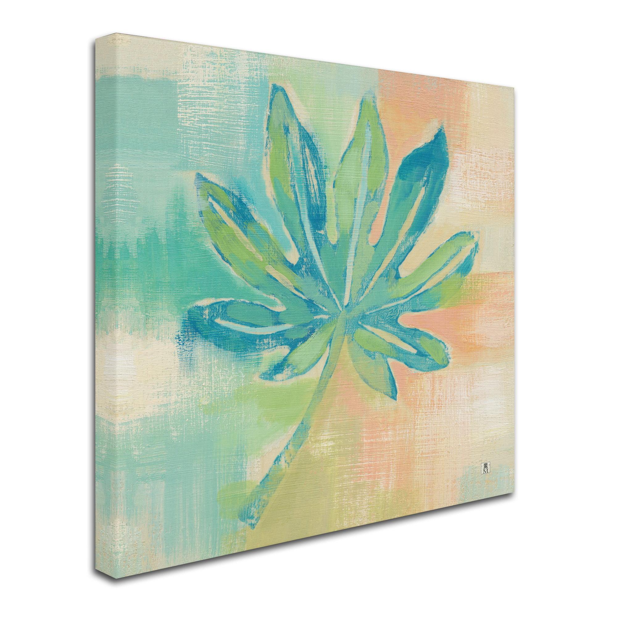 24 x 24 Global Gallery Studio Mousseau Beach Cove Leaves II Giclee Stretched Canvas Artwork