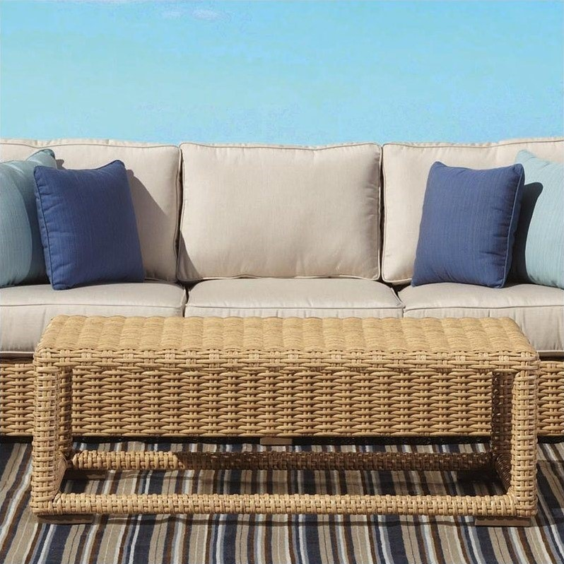 Sunset West Leucadia Coffee Table in Summer Wheat