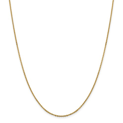 14k Yellow Gold 24in 1.70mm Anchor Cable Necklace Chain