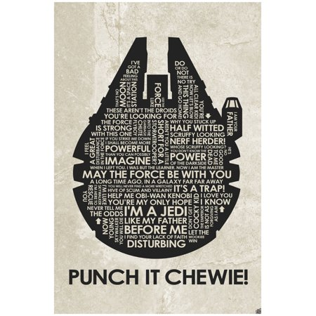 Punch It Chewie Word Art Print Poster 24 X 36 By Artist