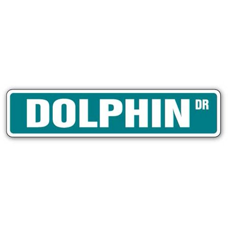 Dolphin Collectors (DOLPHIN Street Sign lover collector nautical marine mammal | Indoor/Outdoor | 24