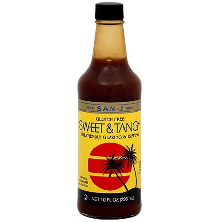 San-J Sweet & Tangy Polynesian Glazing & Dipping Sauce, 10 oz (Pack of 6)