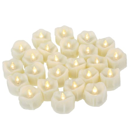 Battery Operated Led Tea Lights Realistic Flickering