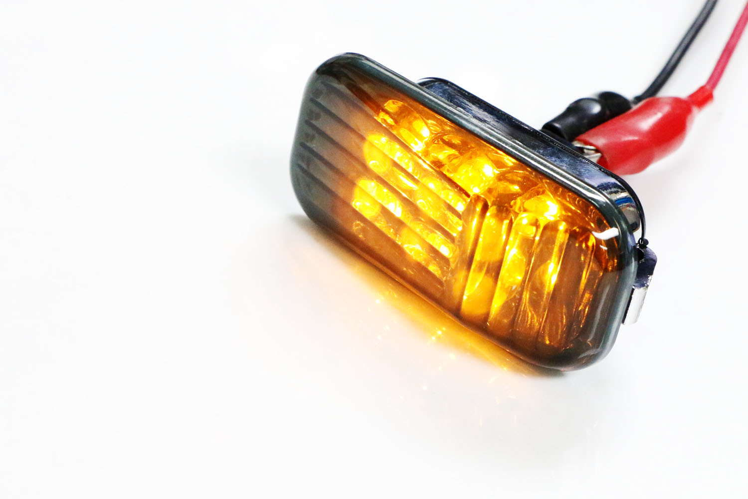 iJDMTOY Smoked Lens Amber LED Front Side Marker Lights For Honda Accord Civic CR-X S2000 Acura Integra RSX NSX etc 2 Includes JDM Style Sidemarkers