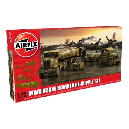 Airfix WWII USAAF 8th Air Force Bomber Resupply Set 1/72 Model (Resupply Kit)