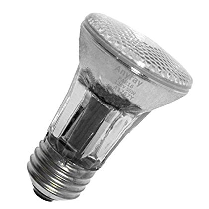 Anyray A1767Y 50-Watts PAR16 Narrow Flood Halogen Light Bulb 130V Medium Screw E26 50W 120V Dimmable