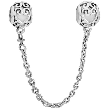 Silver Safety Chain (Safety chain in sterling silver Charm 50 mm)