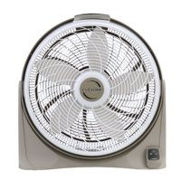 """Lasko 20"""" Cyclone Power 3-Speed Air Circulator Pivoting Floor Fan with Remote Control and Timer, Model 3542, Gray"""