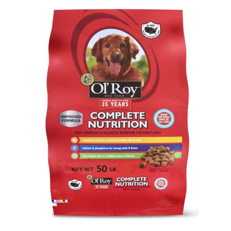 Ol' Roy Complete Nutrition Adult Dry Dog Food, 50 (Best Dog Food For Shedding Problems)