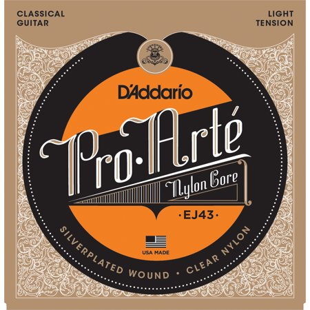 D'Addario EJ43 Pro-Arte Nylon Classical Guitar Strings, Light Tension Classical Guitar Strings Tie End