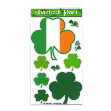 Magnet Variety Pack (6 Magnets) - Shamrocks (Irish, Clovers, St. Patrick's Day) - Refrigerators, Cars, Mailboxes, Decoration - 1.75