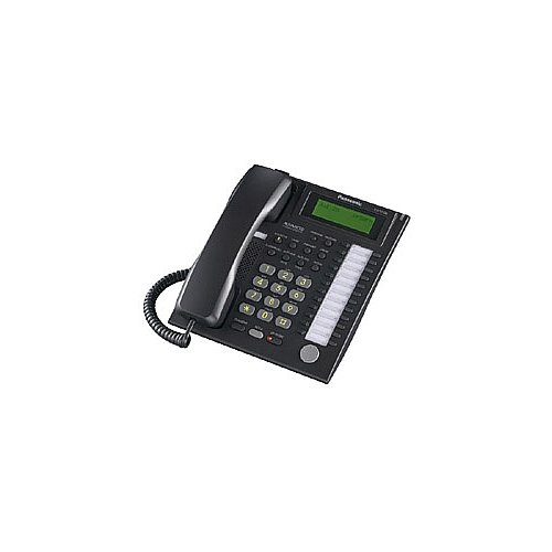 Panasonic 24-Button Speaker Phone Telephone with 3-Line Backlit LCD in Black by