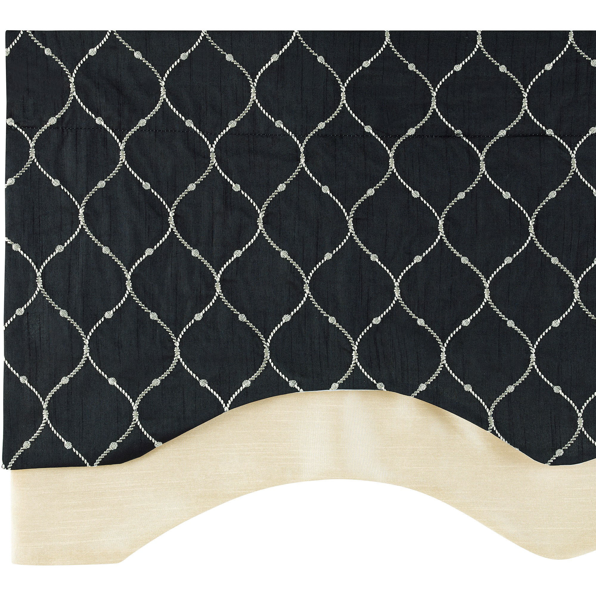 Bleecker Embroidered Layered Valance with Lining by Belle Maison USA, LTD.