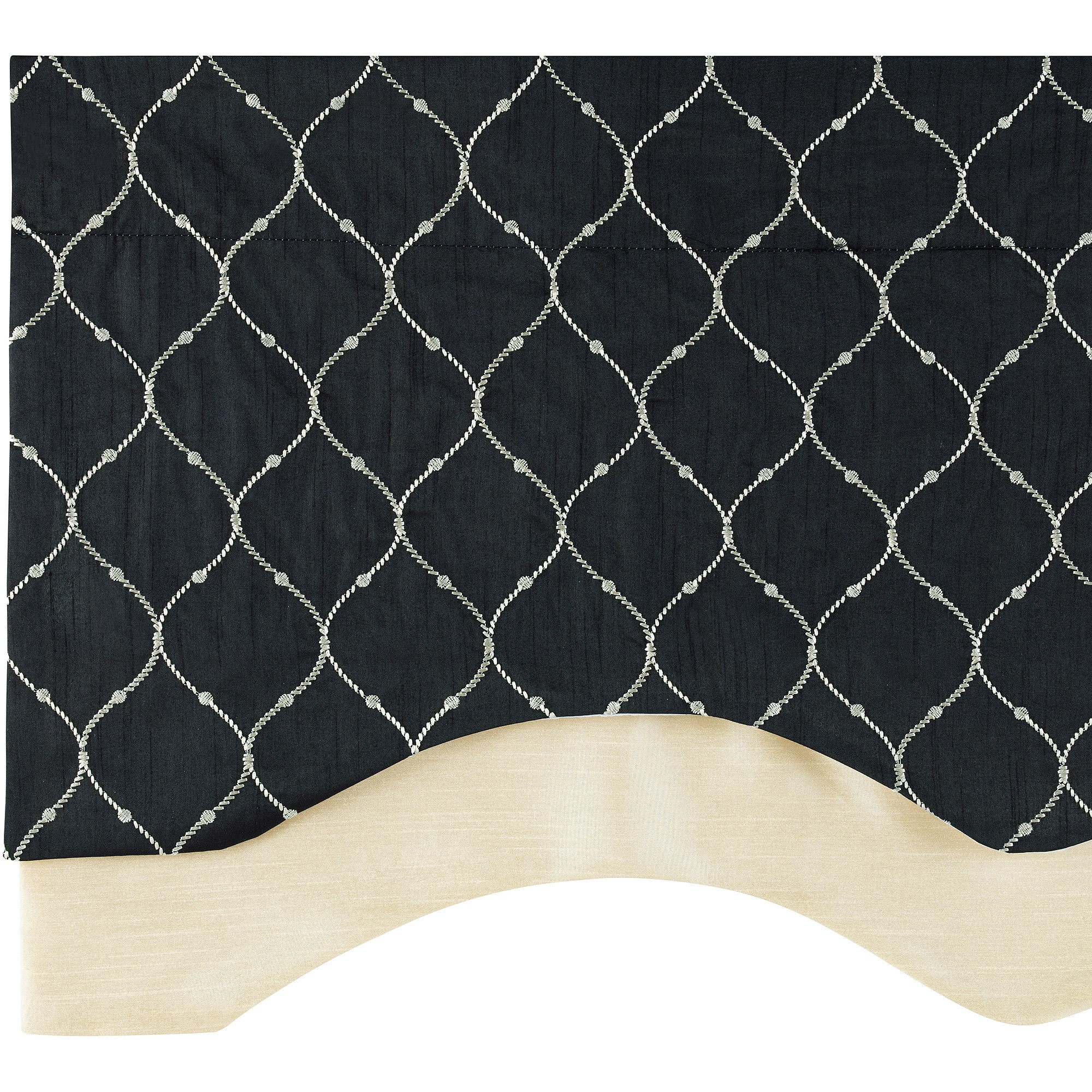 Bleecker Embroidered Layered Valance with Lining