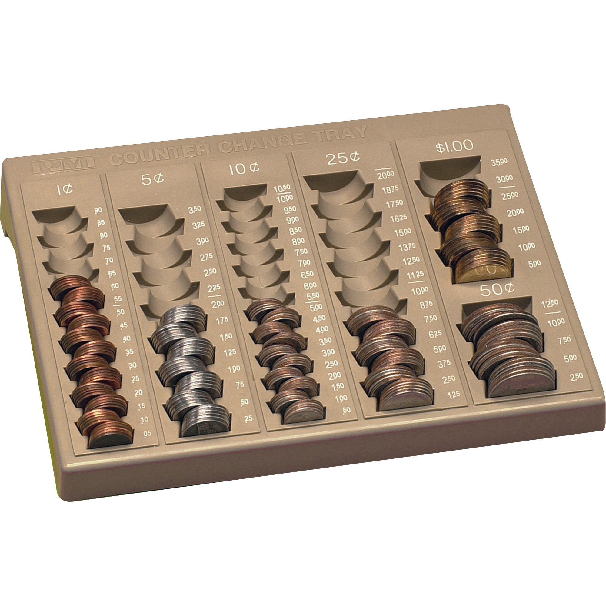 PM SecurIT Counter Change Tray, Beige, 1 (Quantity)