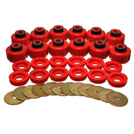 Energy Suspension Body Mount Set - Red