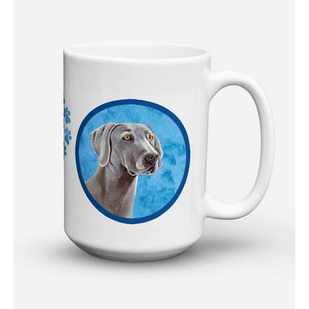 Weimaraner Dishwasher Safe Microwavable Ceramic Coffee Mug 15 ounce