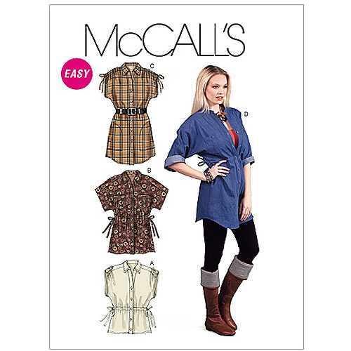 McCall's Pattern Misses' Tops and Tunics, ZZ (L, XL, XXL)