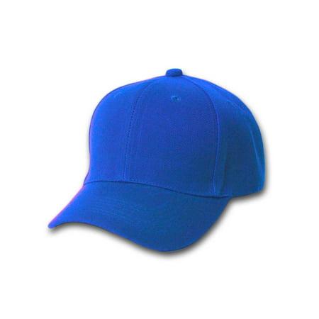 Plain Fitted Curve Bill Hat, Royal Blue 7 5/8 (Royal Blue Adjustable Hat)
