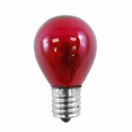 Norman Lamps 10S11N-130V-CR - 130V, 10W, S11 Miniature Light Bulb, Ceramic Red (Pack of 10) (130v Miniature)
