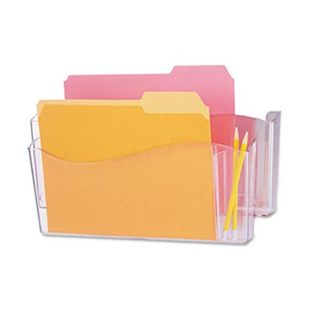 Unbreakable 4-in-1 Wall File- 2 Pocket- Plastic- Clear