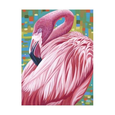 Fabulous Flamingos II Print Wall Art By Carolee Vitaletti