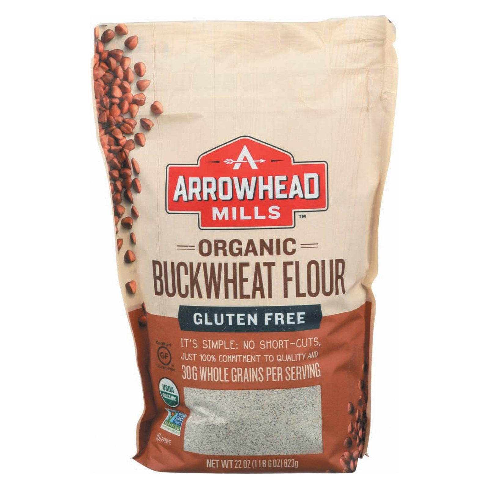 Arrowhead Mills Organic Bukwheat Flour - Gluten Free - pack of 6 - 22 Oz.