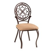 Somette  Lizzy Metal Hammered Brown Traditional Dining Chair (Set of 4)