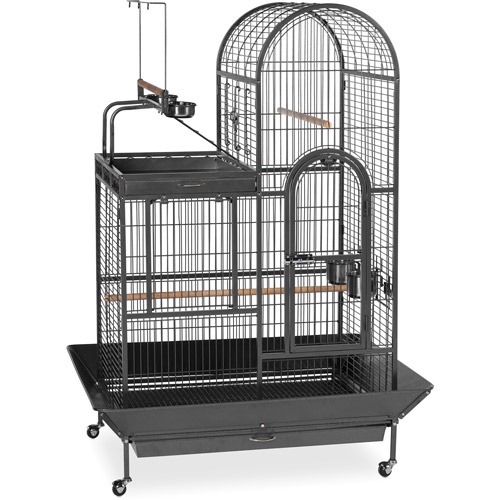Prevue Pet Products Deluxe Parrot Play Top Birdcage, Black Hammertone
