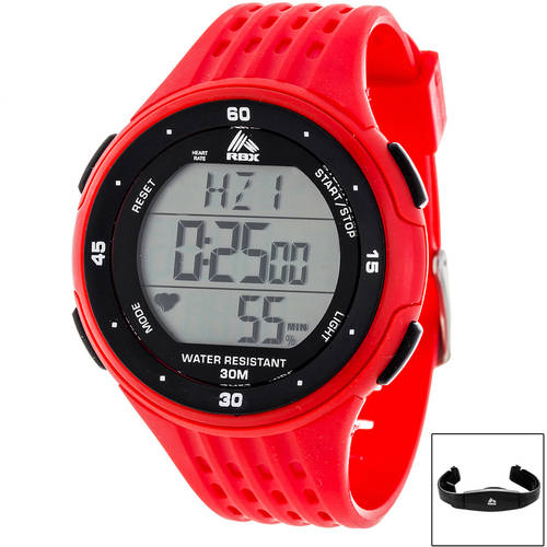RBX Digital Heart Rate Monitor Watch with Chest Belt, Multiple Colors Available