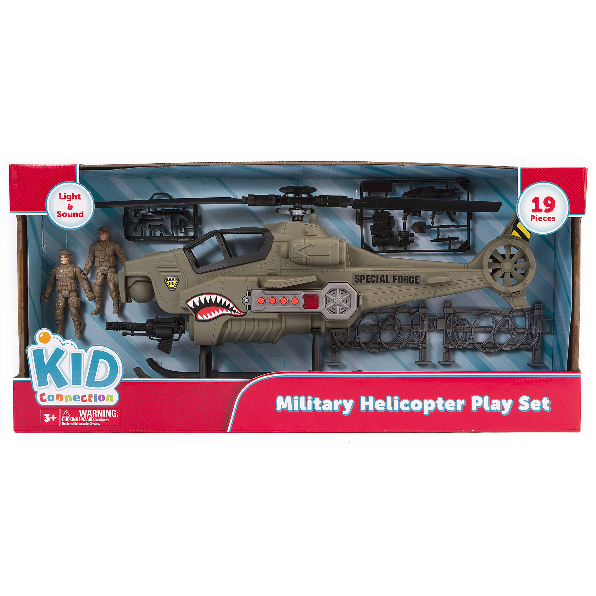 Kid Connection Military Helicopter Play Set Walmart