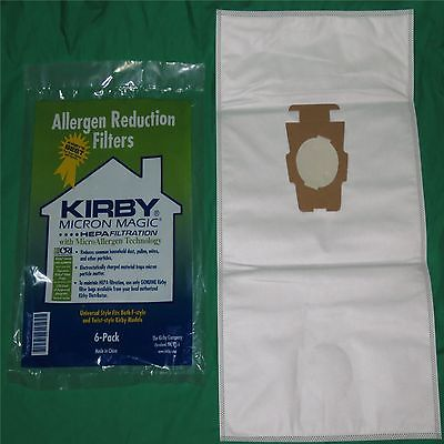 Genuine Kirby Style F or G Vac Bags Micron Magic Sentria Vac Cloth HEPA Type [Single Loose Cloth HEPA Bag]