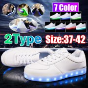 LED Light Up Sneakers Kids High Top USB Charging Boys Girls Unisex Shoes