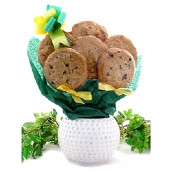 Golf Ball Cookie Planter 6 Gourmet Cookies by