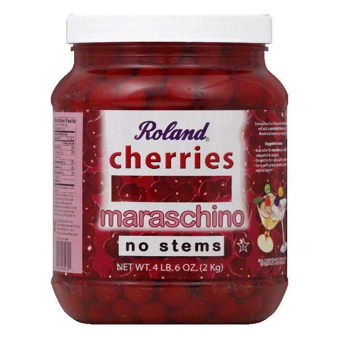 Roland Cherries, Maraschino, No Stems by American Roland