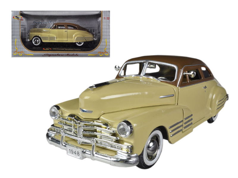 1948 Chevrolet Fleetline Aerosedan Beige 1 32 Diecast Car Model by Signature Models by Signature Models