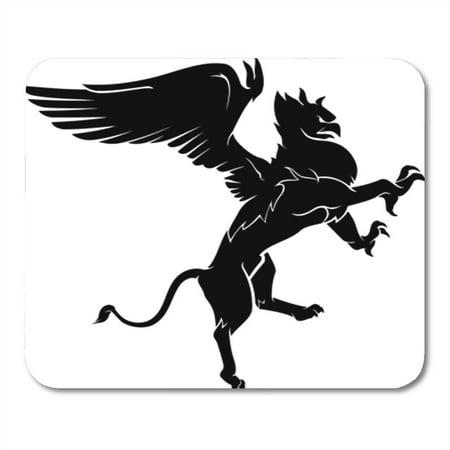 SIDONKU Fierce Legendary Griffin Flying Lion Tough Action Aloft Beak Mousepad Mouse Pad Mouse Mat 9x10 inch ()