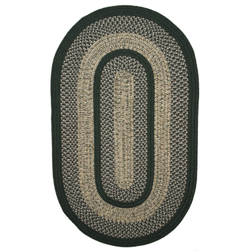 Thorndike Mills Town Crier Green Indoor/Outdoor Rug