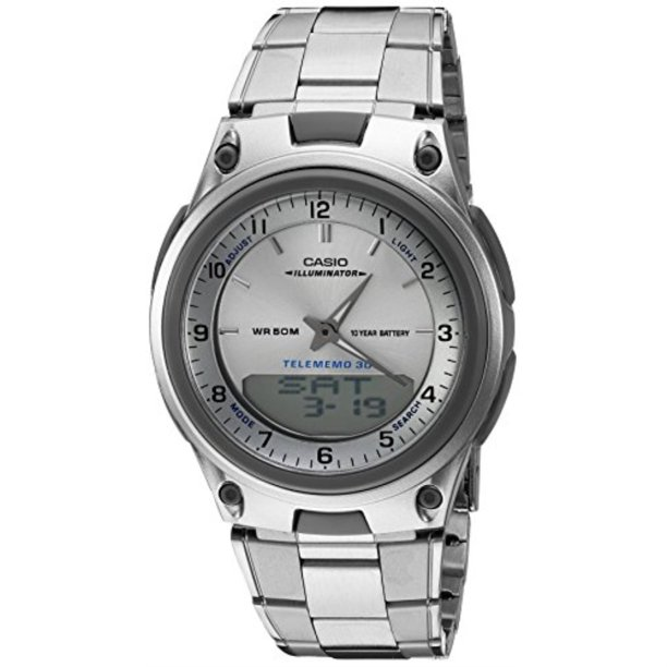 Men's AW80D-7A Sports Chronograph Alarm 10-Year Battery Databank Watch