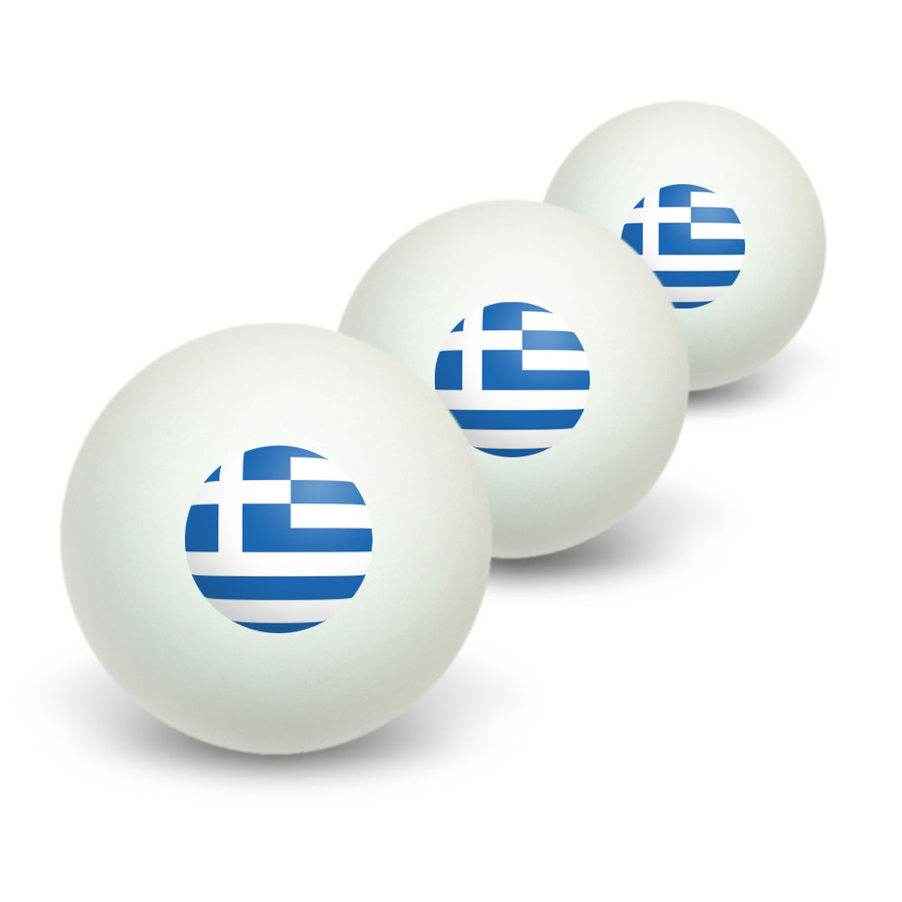 Greece Greek Flag Novelty Ping Pong Ping Pong Ball 3 Pack by Graphics and More
