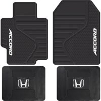 4 Piece Black ALL Weather Heavy Duty Rubber Front & Rear Floor Mats Universal Car for Honda Accord
