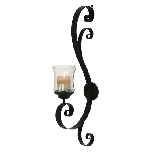 Click here to buy Decmode Metal and Glass Candle Sconce, Multi Color by DecMode.