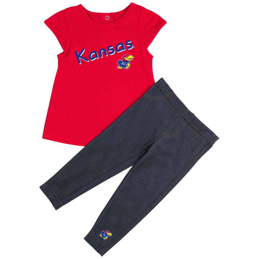 Kansas Jayhawks KU Girls' Tee Shirt and Jeggings Set