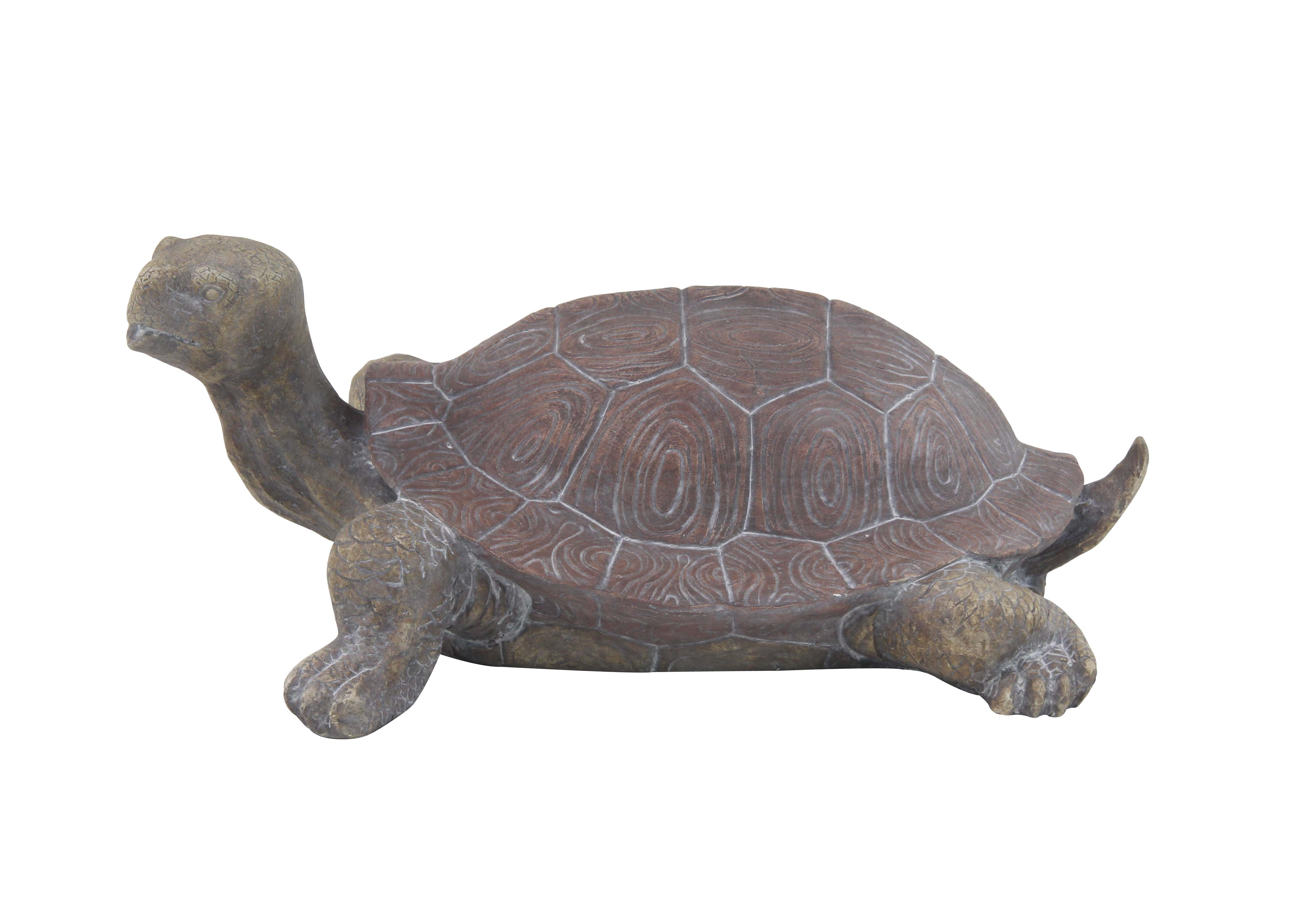 Decmode 11 Inch Traditional Resin Turtle Sculpture, Green by DecMode