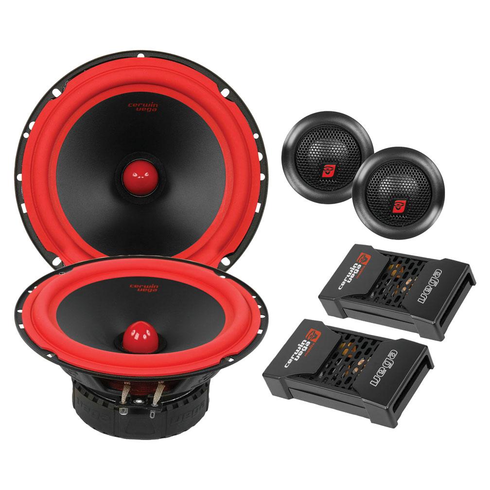 """Cerwin-Vega Mobile V465C Vega Series Component Systems 2-Way 6.5"""" Speakers, 400W Max by Cerwin-Vega"""